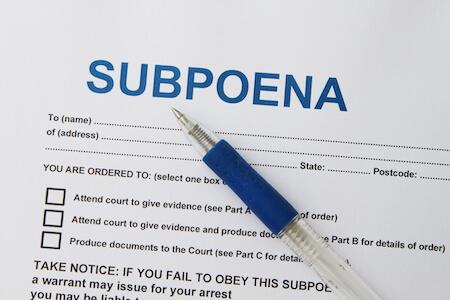 Subpoena Preparation